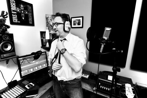 Emrys in the TEHI studio